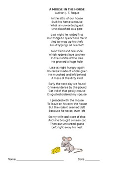 A Mouse In The House by J. T Roque