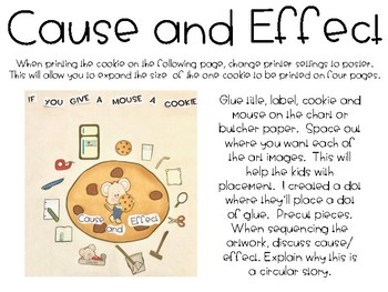 A Mouse and A Cookie {Cause and Effect Freebie}