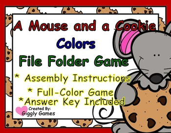 A Mouse and a Cookie Colors File Folder Game