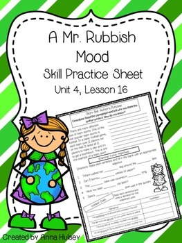 A Mr. Rubbish Mood (Skill Practice Sheet)