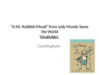 A Mr. Rubbish Mood Vocabulary PowerPoint - Journeys