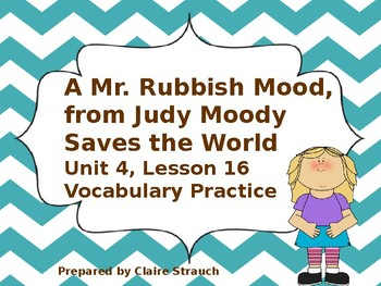 A Mr. Rubbish Mood, from Judy Moody Saves the World