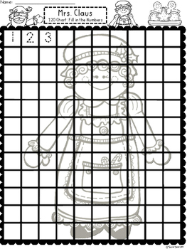 A+ Mrs.  Claus 100 and 120 Chart