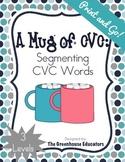 A Mug of winter CVC Words: Segmenting consonant-vowel-consonant (3 levels)