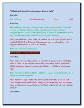 A Multimedia Experience Exploring Integers Student Script
