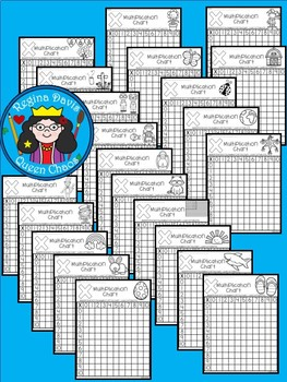 A+ Multiplication Charts Throughout The Year: 54 Charts