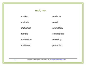 "Roots ""mot, mo"": A Multisensory Approach"