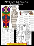 A+ Mummy: King Tut CVC Word Find