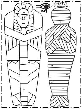 A+ Mummy: King Tut CVC Word Find