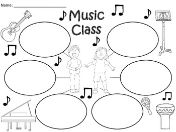 A+  Music Class... Three Graphic Organizers