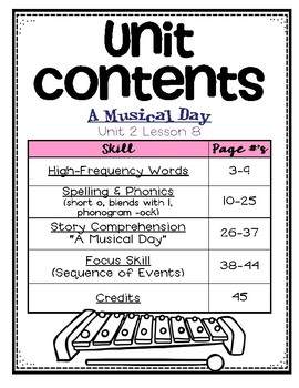 A Musical Day: First Grade - Supplemental Resources #8