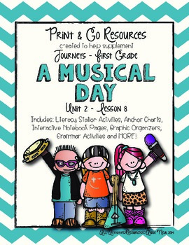 A Musical Day - Journeys First Grade Print and Go