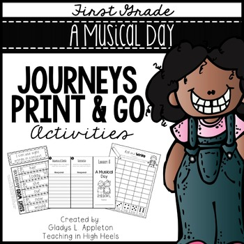 A Musical Day Journeys First Grade Print and Go Activities