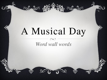 A Musical Day PowerPoint