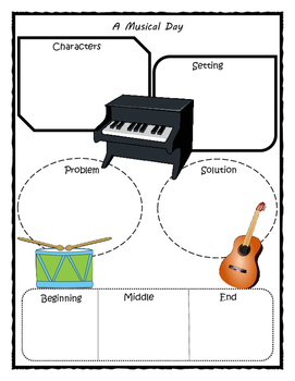 A Musical Day Story Map - Graphic Organizer