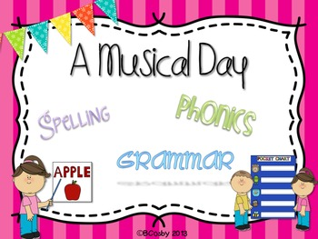 A Musical Day {spelling, grammar, and phonics practice}
