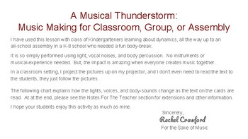 A Musical Thunderstorm: Music Making for Classroom, Group, or Assembly