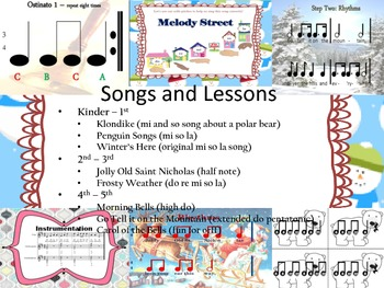 A Musical Wonderland - Songs, Activities, and More for Winter!