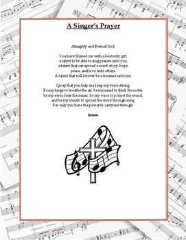 A Musician's Prayer Poster