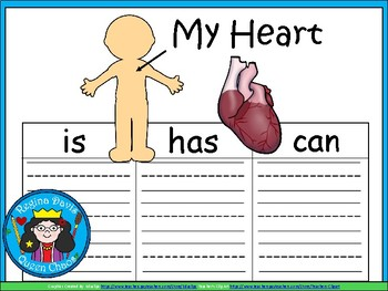 A+ My Heart ...Three Graphic Organizers