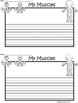 A+ My Muscles ... Writing Paper