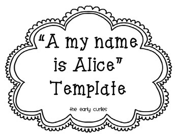 A My Name is Alice Template