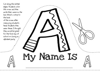 Alphabet & Name Crowns-Perfect for an Alphabet Party!