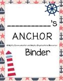 A.N.C.H.O.R. Binder Covers