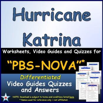A NOVA -  Hurricane Katrina  - Worksheet, Ans. Sheet, and