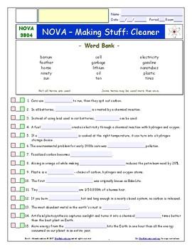 A NOVA - Making Stuff: Cleaner - iPad Interactive Workshee
