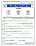 A NOVA - Secrets of the Sun - iPad Interactive Worksheet, Ans. and Quiz.