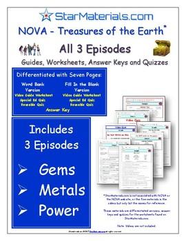 1 SSL- SCHOOL SITE LICENSE -  NOVA - Treasures of Earth - 3 Episode Bundle