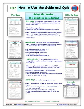 A NOVA - Treasures of Earth - 3 Episodes - Worksheet, Ans. Sheet, and Quizzes.