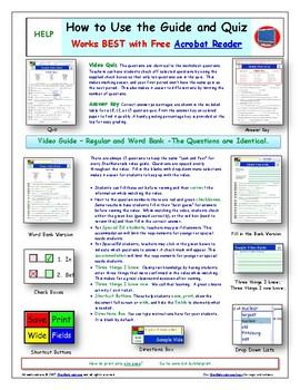 A NOVA - Treasures of Earth - Gems - iPad Interactive Worksheet, Ans. and Quiz.