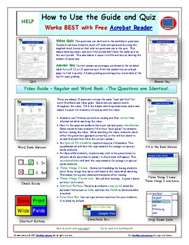 A NOVA - Treasures of Earth - Power - iPad Interactive Worksheet, Ans. and Quiz.