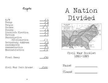A Nation Divided - Civil War booklet