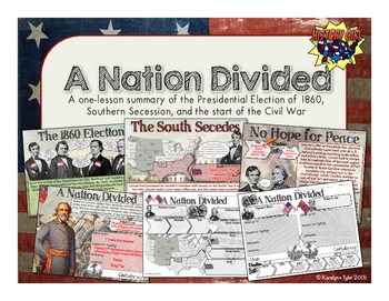 A Nation Divided: Election of 1860 and Secession PowerPoint and Infographic