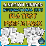 A Nation Divided Historical Informational Text Test Prep 2 Pack