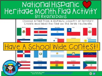 A+ National Hispanic Heritage Month Flag Activity or Contest