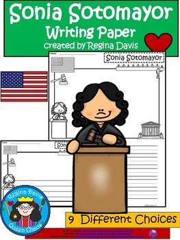 A+ National Hispanic Heritage Month: Sonia Sotomayor Writing Paper