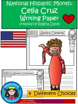 A+ National Hispanic Month: Celia Cruz Writing Paper