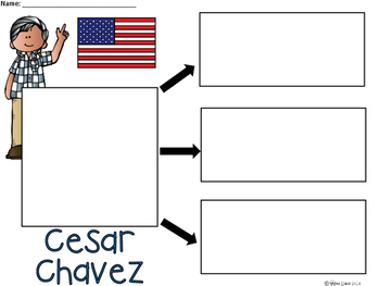 A+ National Hispanic Month: Cesar Chavez... Three Graphic Organizers