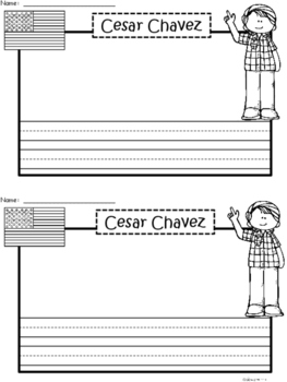 A+ National Hispanic Month: Cesar Chavez Writing Paper