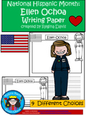 A+ National Hispanic Month: Ellen Ochoa Writing Paper