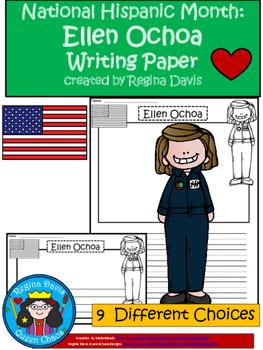A+ National Hispanic Month: Ellen Ochoa Writing Paper