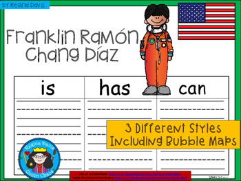 A+ National Hispanic Month: Franklin Ramón Chang Díaz...Three Graphic Organizers