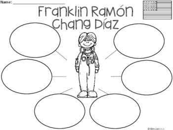A+ National Hispanic Month: Franklin Ramón Chang Díaz...Three Graphic Organizers