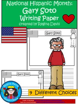 A+ National Hispanic Month:  Gary Soto Writing Paper