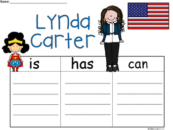 A+ National Hispanic Month: Lynda Carter ...Three Graphic Organizers