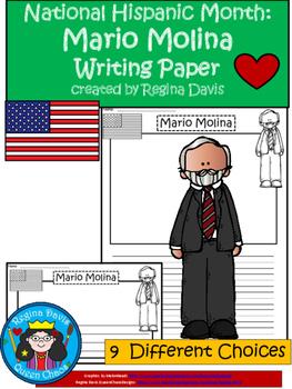 A+ National Hispanic Month:  Mario Molina Writing Paper